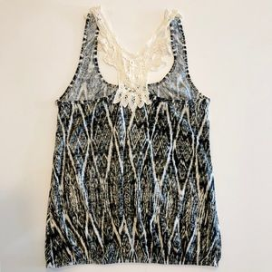 Urban Outfitters Tops - Black and white patterned tank-top